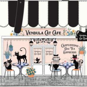 Vendula Cat Cafe black and white